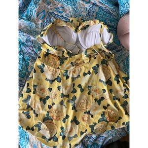 torrid Swim - Yellow Floral Swim Dress